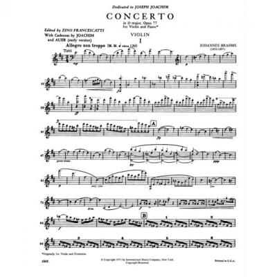 Brahms violin concierto