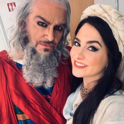 Junto a Riccardo Zanellato:Nabucco:Les Arts 2019